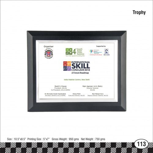 3s - 113 International Skill Conclave Trophy