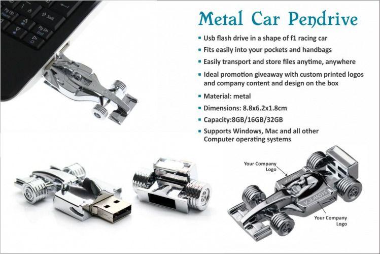 Metal Car Pen Drive
